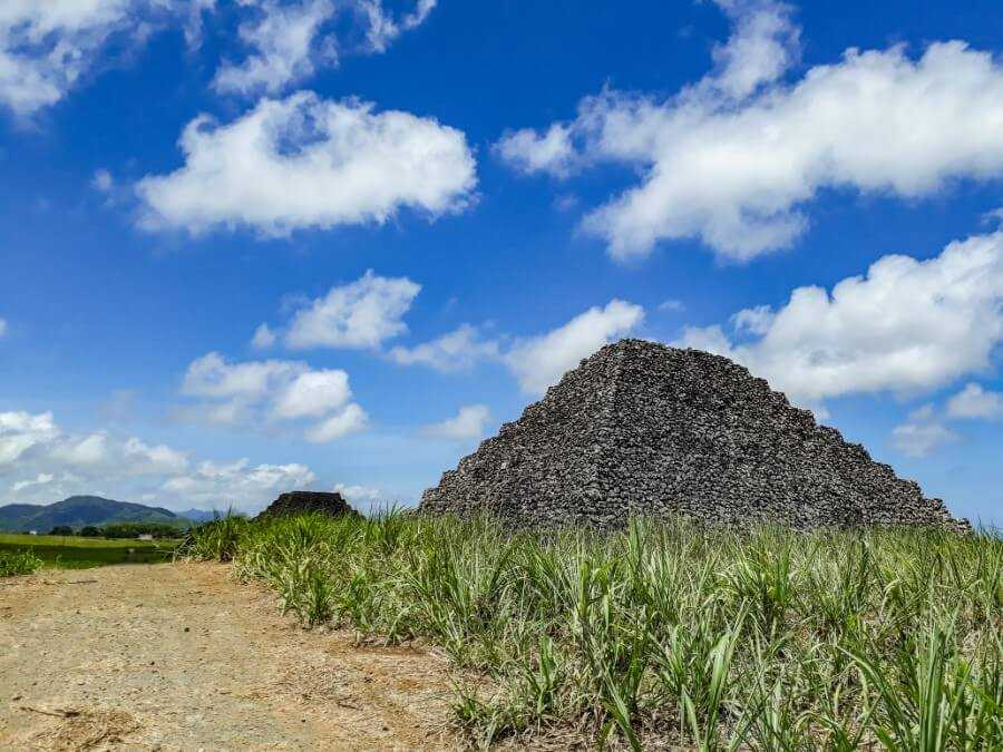 2 of the 7 Pyramids in Mauritius