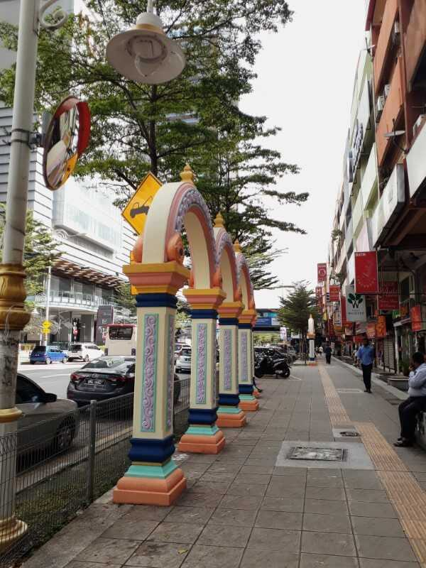 Colorful archways in Brickfields Little India