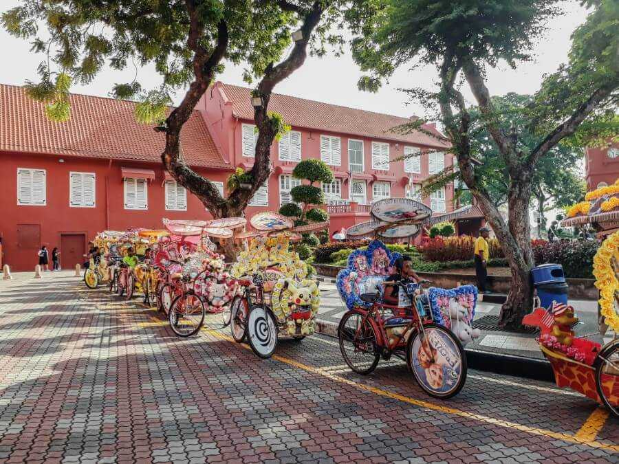 Rickshaw rides in Melaka Malaysia