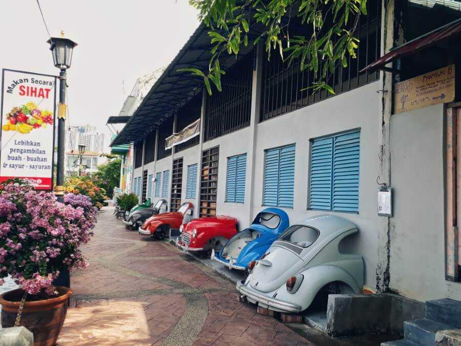 Quirky lanes in Melaka Malaysia