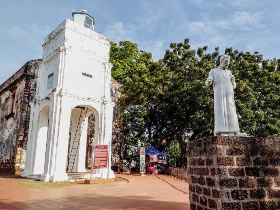 The ruins of St Paul's Church Melaka Malaysia