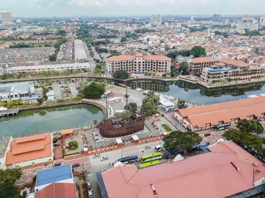 Bird's eye view of Melaka Malaysia