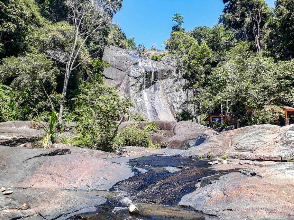 Lower section at the Seven Wells Waterfall in Langkawi Malaysia