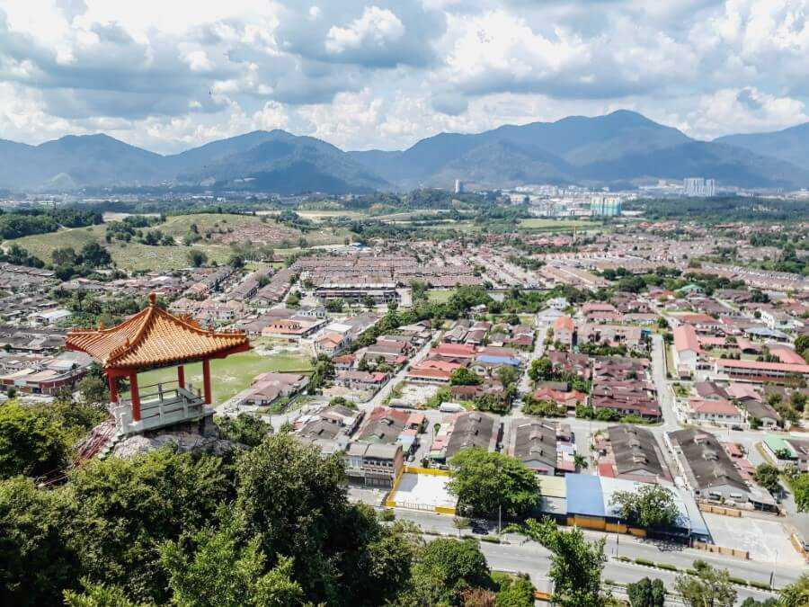 View from the top of Perak Temple in Ipoh is one of the best things to do during any Singapore Malaysia trip itinerary