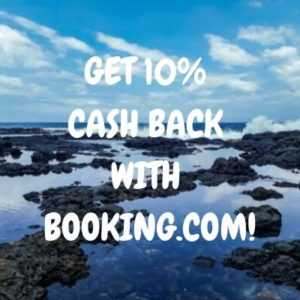 Get 10% cashback with booking.com