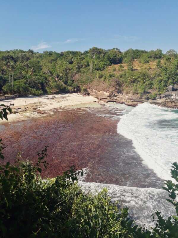 view of secret point beach on nusa ceningan guide