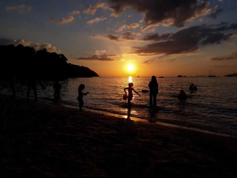Sunset beach on Koh Lipe