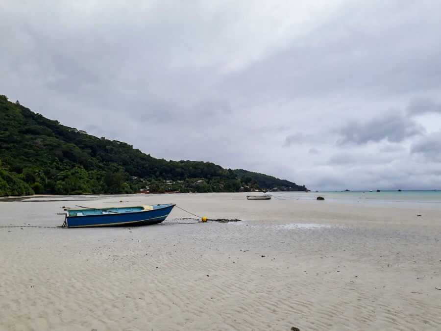 Boat on Anse La Mouche Seychelles