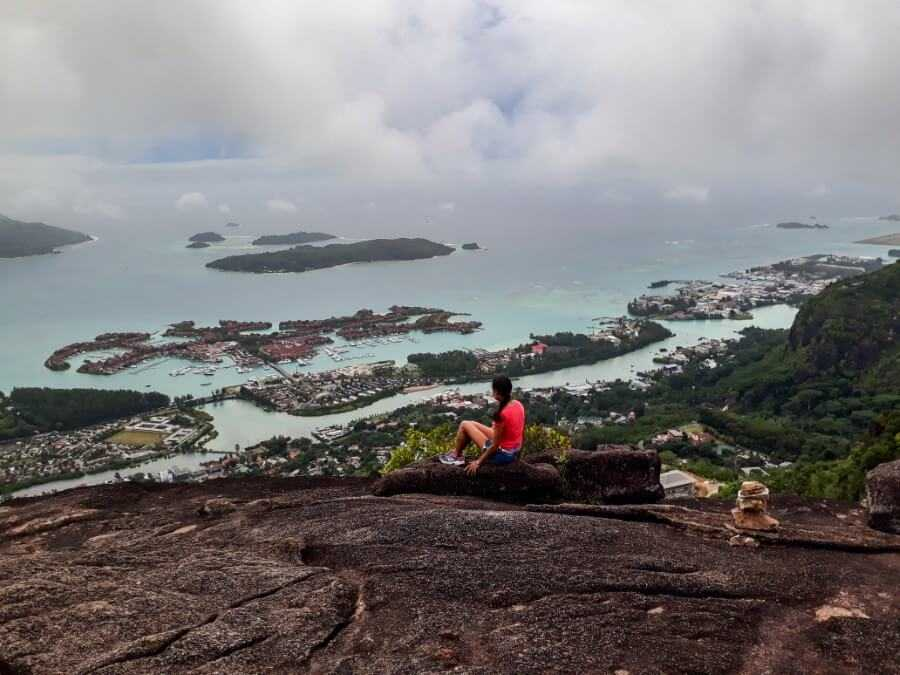 Copolia trail Seychelles - view of Victoria and Eden Island