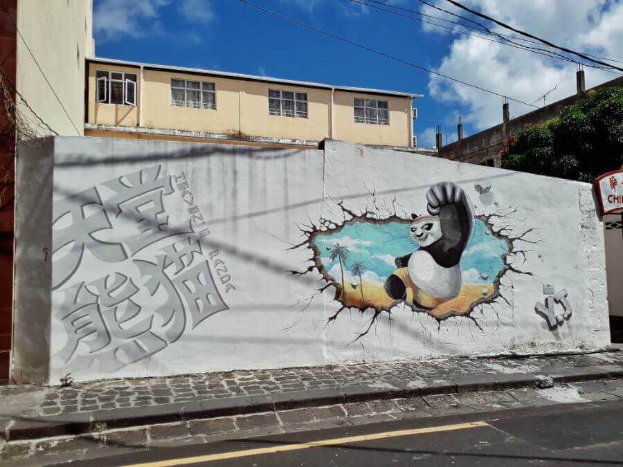 Kung Fu Panda Street Art In Mauritius