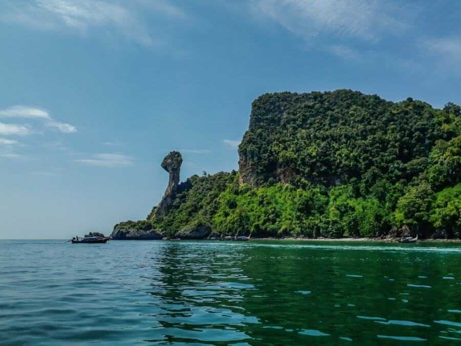Chicken island is the best snorkeling spot in Krabi Thailand