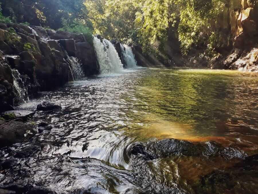 First Waterfall at Eureka Waterfall Mauritius