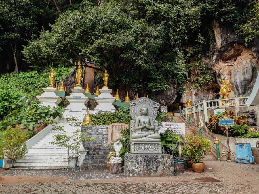 Tiger Cave Temple entrance in Krabi Thailand