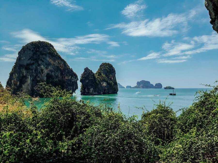View of the nearby islands at the Phra Nang beach viewpoint