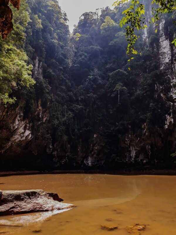 Hidden lagoon on Railay Thailand
