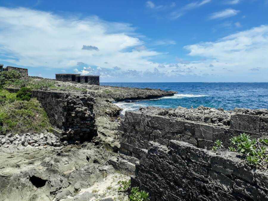Old ruins on Ile de la Passe Mauritius