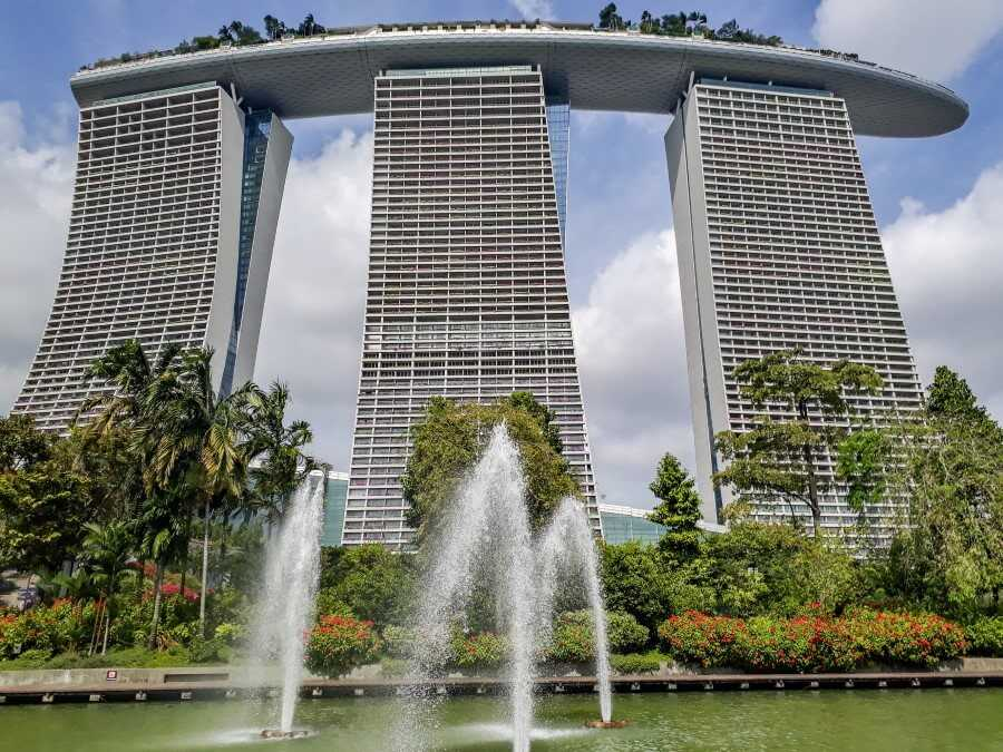 Marina Bay Sands hotel in Singapore Instagram spot