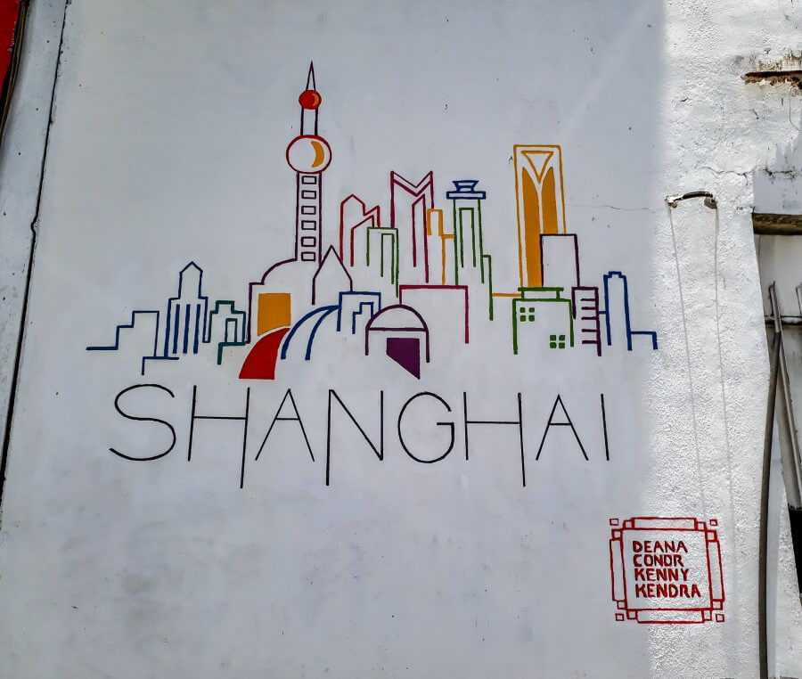 Shanghai mural Port Louis Mauritius