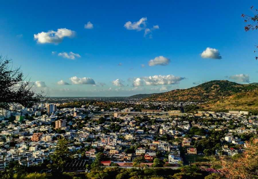 View from Signaux Mountain in Port Louis