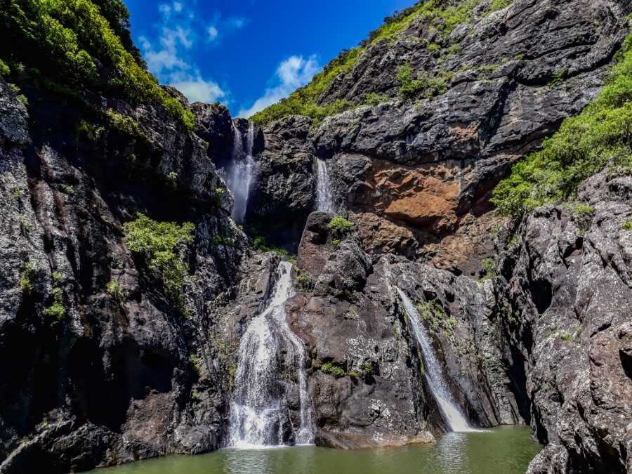twin waterfalls at Tamarind Falls Mauritius