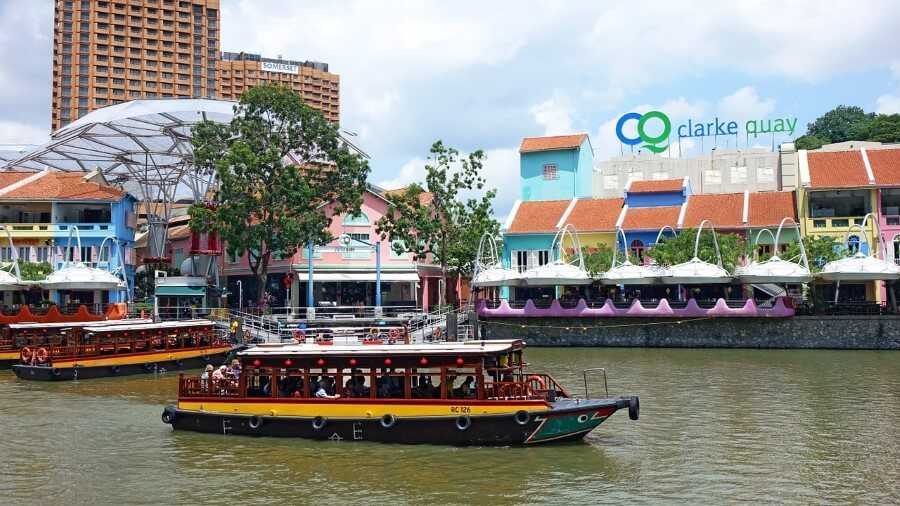 Boats on Clarke Quay