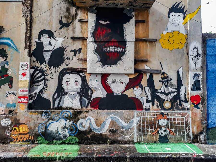 street art of Anime characters in Mauritius