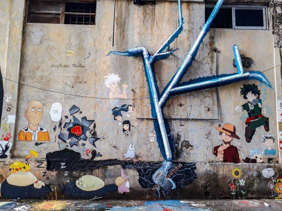 Water pipe street art