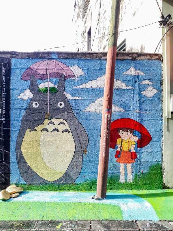 Anime street art in Chinatown