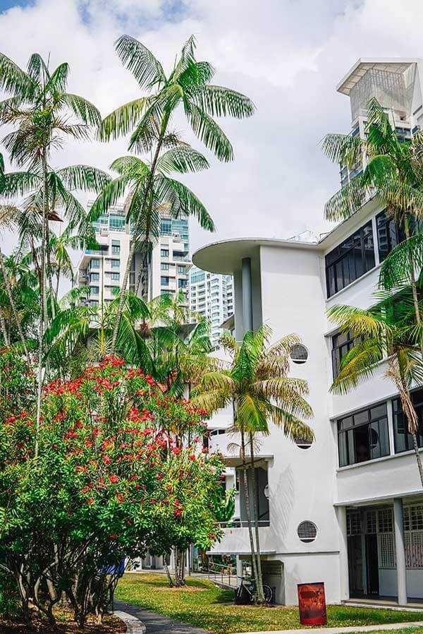 Contemporary buildings in Tiong Bahru Singapore