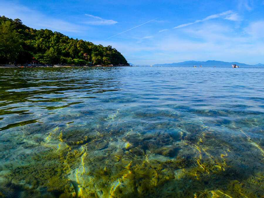 Crystal clear water on Perhentian Islands