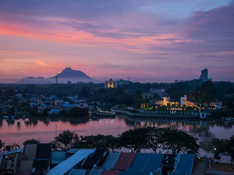City and views in Kuching Malaysia Borneo