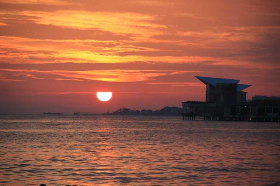 Sunset on the beach of Port Dickson