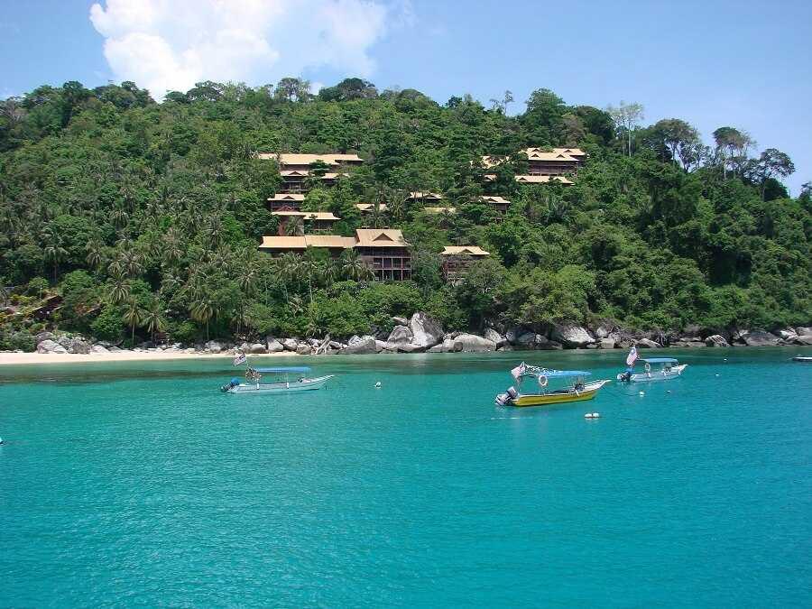 Boats on Tioman Island