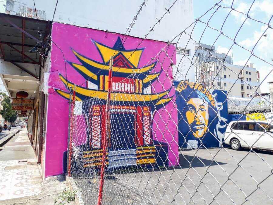 pagoda street art