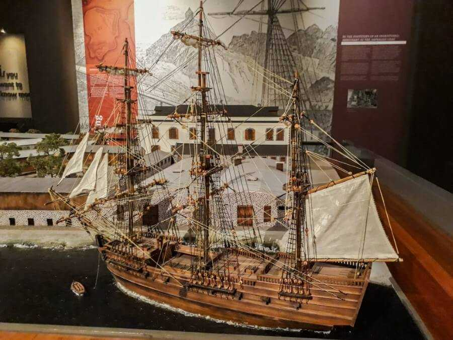 A replica of the boat that brought the Indentured laborers to Mauritius