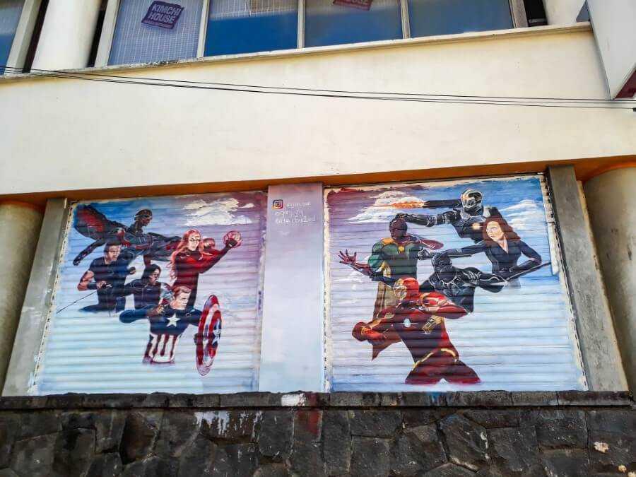 Avengers Street art