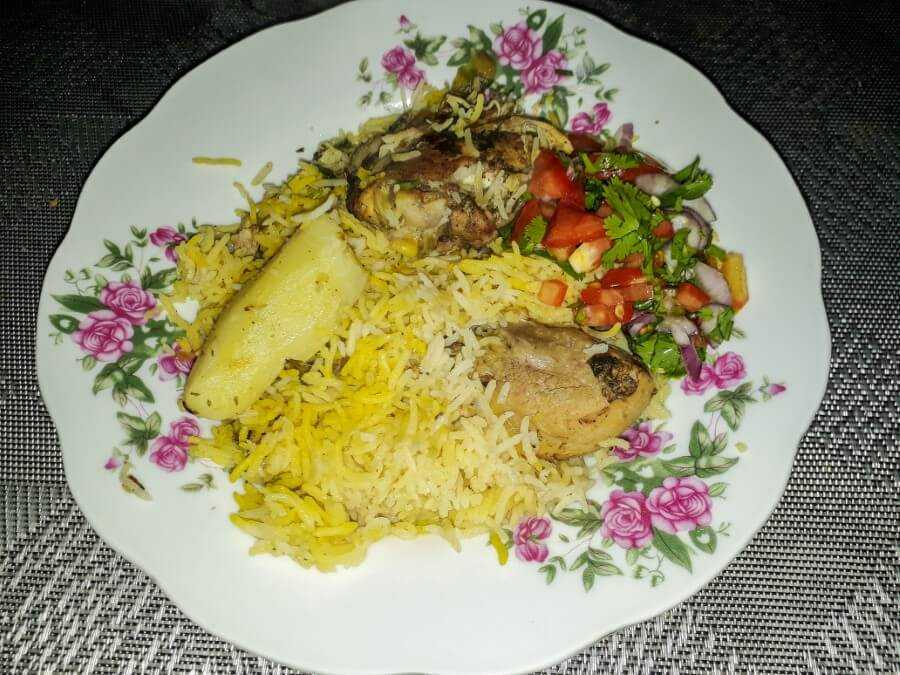 Chicken briani - fragrant rice with chicken