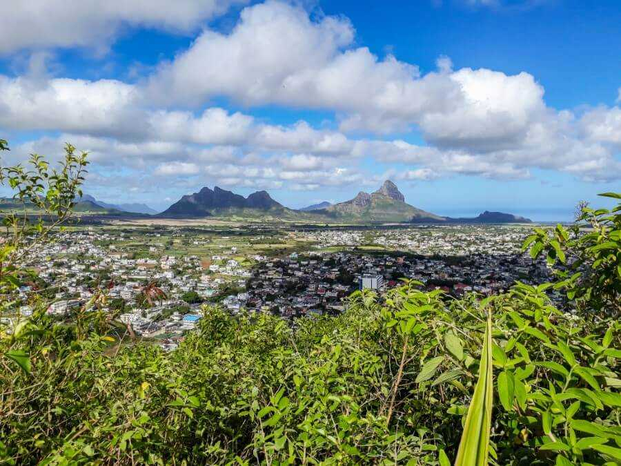 Urban views from Candos Hill Mauritius