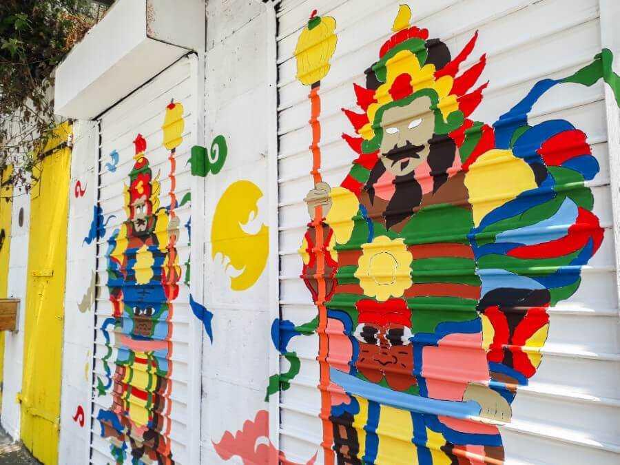 Chinese warriors street art