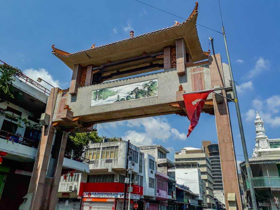 Entrance to Chinatown Port Louis