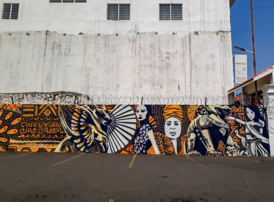 African/Asion Fusion  street art