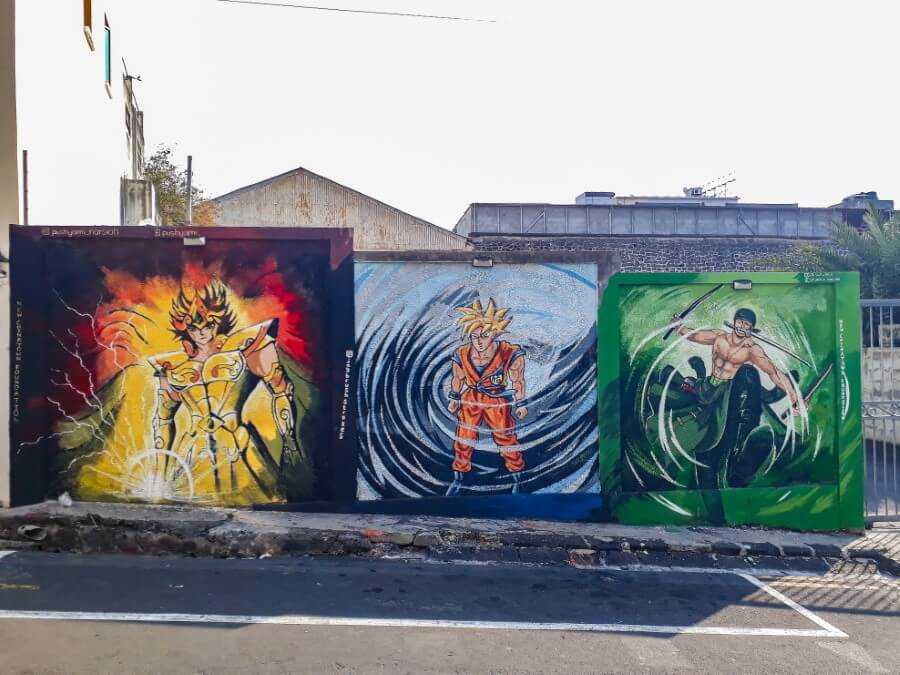 Dragon ball Z street art