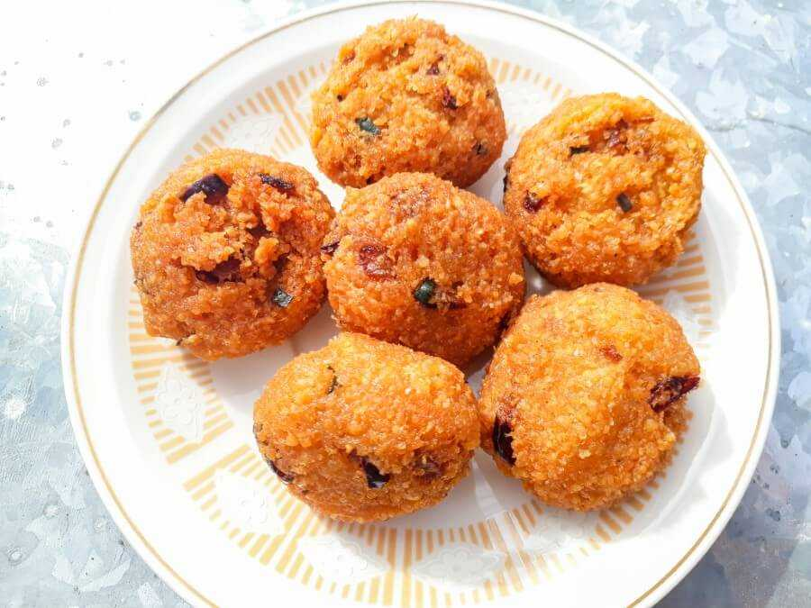 Gateau Piment is a popular spicy Mauritian snack made from yellow split peas and chili