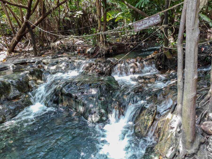 a hot spring in the Krabi jungle