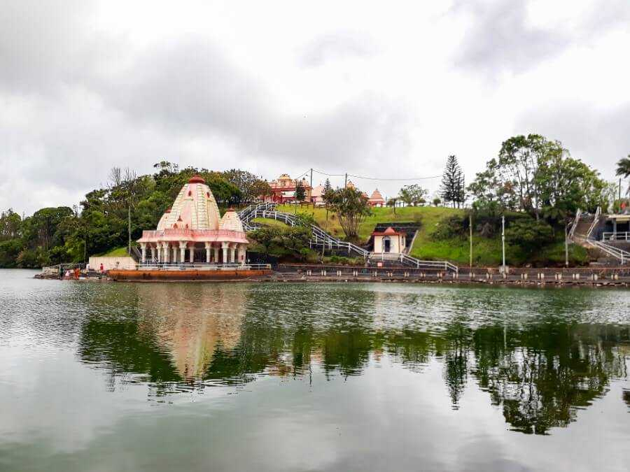 hindu temple at the foot of Grand Bassin in Mauritius