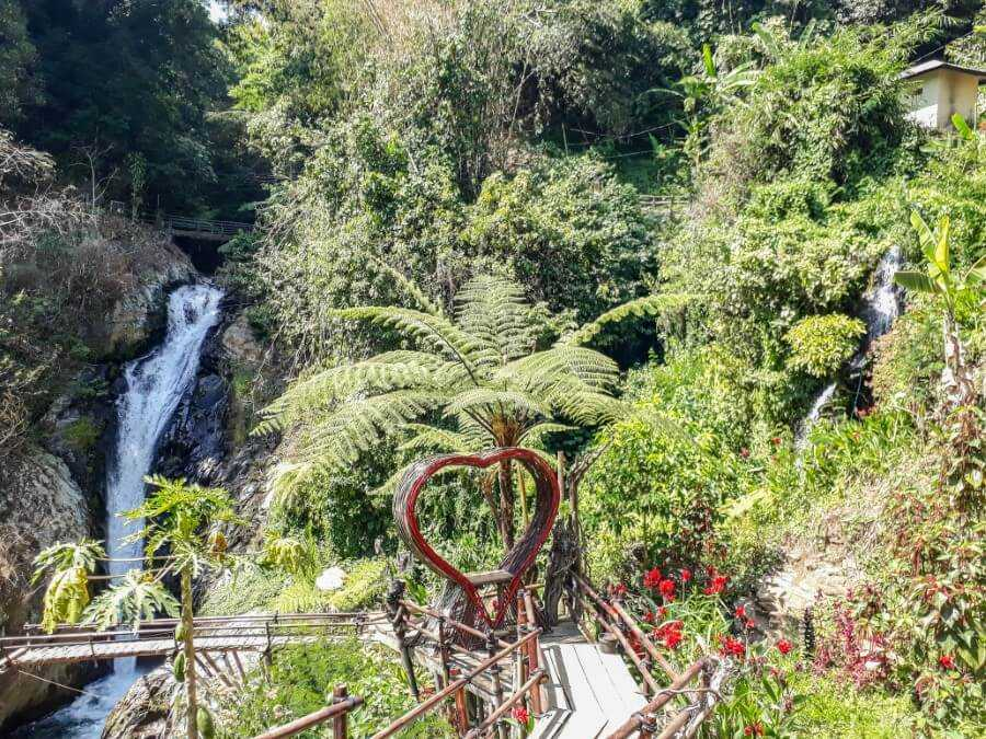 Nest structures at Git Git Waterfall Bali