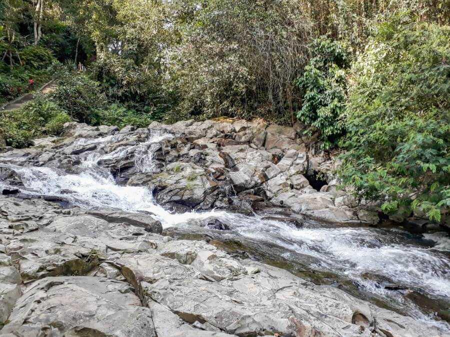 a small hidden waterfall at Tibumana Ubud