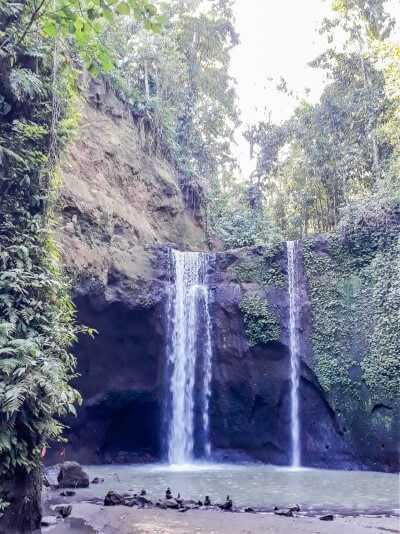 twin waterfall at tibumana